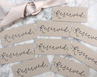 Reserved Chair Signs, Wedding Reserved Signs, Reserved Tags, Wedding Reserved Signs, Wedding Reserved Signs, Wedding Chair Reserved Tags