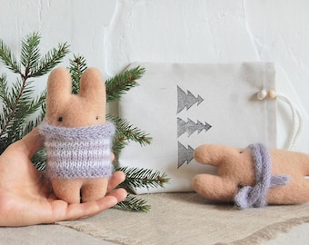 Set Toys, Plush gift, Small Toy, Stuffed Bunny, Original Gift, Gift for friend, Toy Bunny, Cute stuffed animal, Miniature Bunny