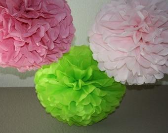 40 Tissue Paper Pom Poms - Paper Flower Decoration - Sale