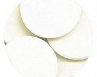 Super White 16 oz Merckens Confectionery Coating - Chocolate Melts 16 ounce bag 1 lb pound bag  Disks