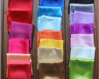 20 Colors Available/Silk Square Neck Scarf/9.9 each or 3 for 24.9/Silk Bandanas/Silk Headband/Silk Hair Scarf