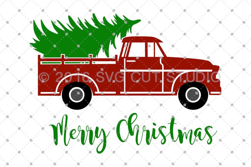 Christmas Tree Delivery Truck SVG Svg Old Cut Files For Cricut Silhouette