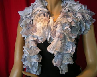 "Long scarf ""Brasilia"" shades of grey collection"