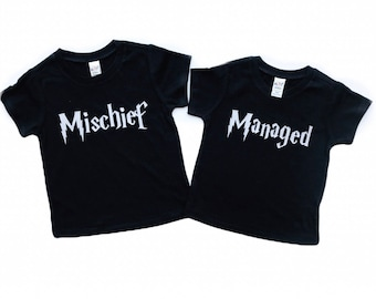 Mischief/Managed Pair of Tees