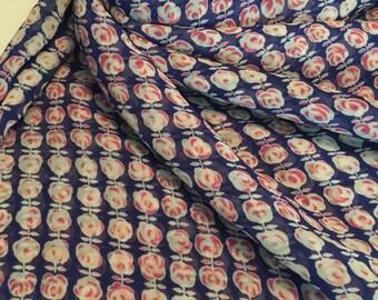 Chiffon Fabric Print 2 Yards Abstract Florals
