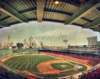 Fenway Park Interior, Boston Red Sox, Fenway Park Canvas Art,, Back Bay Skyline, Boston Poster, Boston Prints, Sports Prints, Red Sox Art