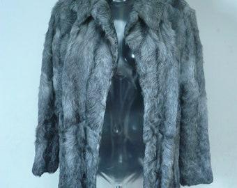 Vintage Grey Fur Coat
