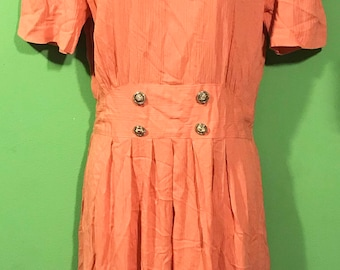 Vintage 90s Does 40s Womens Dress Small Medium Hipster Indie Zip Up Lace Collar Peter Pan