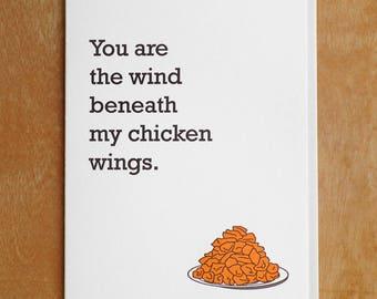 Chicken Wings Letterpress Card
