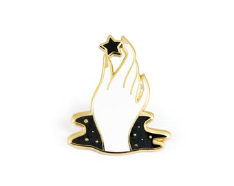 Cosmic Touch Enamel Pin