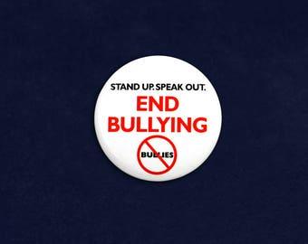 25 Round End Bullying Pins in a Bag (25 Pins) (P-20-BUR)