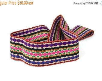 ON SALE Vintage handmade ethno/hippie/boho colorful BELT