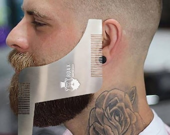 Stainless Steel Shaper, Beard Comb, Shaper, Beard Shaper, Stainless Steel Shaper Comb, Comb Beard, Beard Shaping Tool, Beard Tool, Beard Kit
