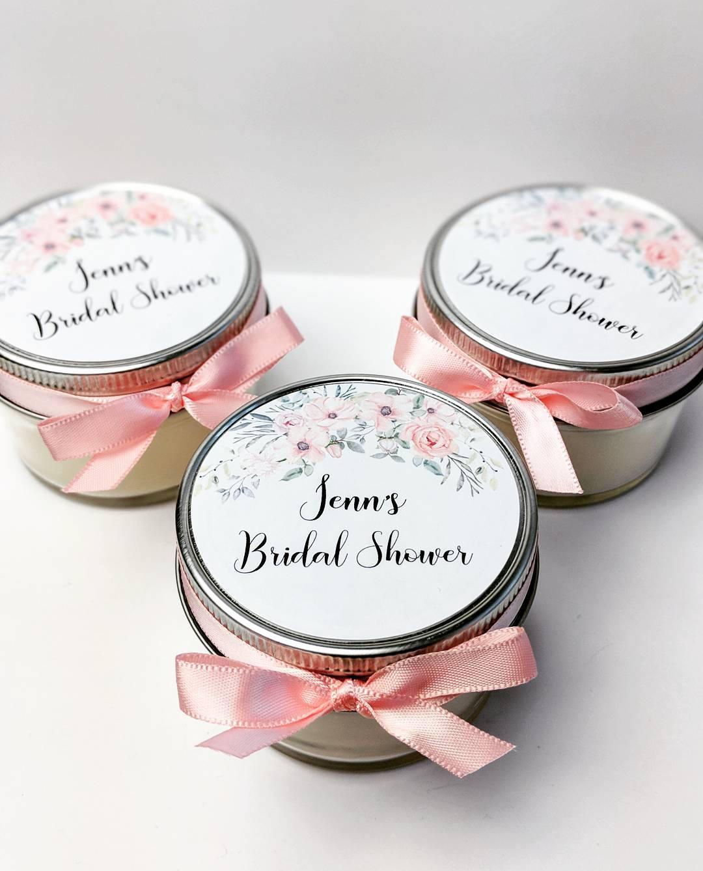 Wedding Favor Candles 50 Mason Jar Favors Bridal Shower