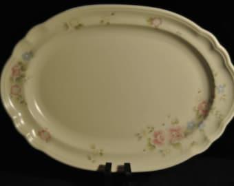 Pfaltzgraff Tea Rose Platter 10 1/4 x 14 1/2