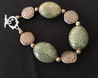 Beautiful Olive Colored Bracelet