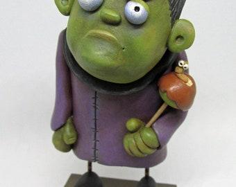 HALLOWEEN FOLK ART Frankenstein Halloween Trick! by Janell Berryman Pumpkinseeds