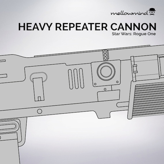 Star wars rogue one bazes heavy repeater cannon blueprint 11 star wars rogue one bazes heavy repeater cannon blueprint 11 scale from mellowmindcosplay on etsy studio malvernweather Image collections