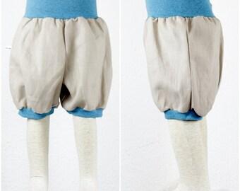 Short linen trousers