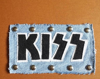 KISS Hand-Crafted Studded Denim Patch