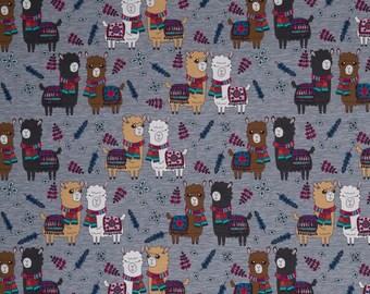 Lamas in Melange Grey Cotton Jersey