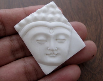 Excellent Hand Carved BUDDHA  Cabochon,  bovine carving, Cabochon for Setting , embellishment S7421