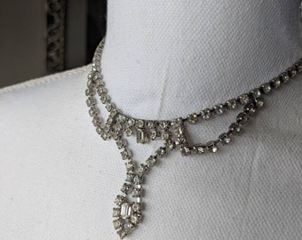 Bride Ready Rhinestone Drop Necklace