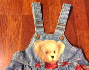 Blue Jean Teddy Infant Overalls