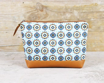 "Bag-Cosmetic bag retro pattern ""Malia"""