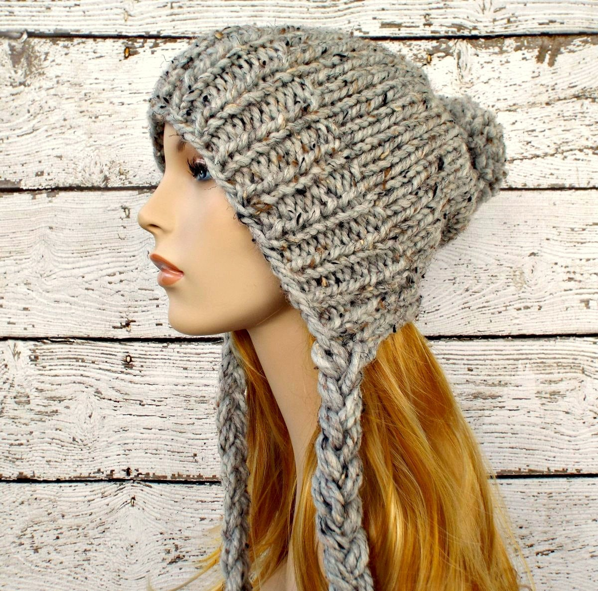 Instant download knitting pattern slouchy ear flap hat zoom bankloansurffo Gallery