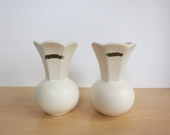 S.S. Grand View Point Hotel Vases, Pair, Souvenirs, Lincoln Highway, Allegheny Mountains