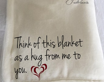 Personalized Custom Throw Blanket for Someone Special!  One-of- kind when you personalize it!!