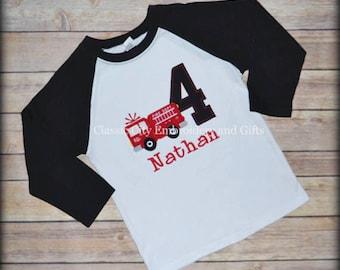 fire truck shirt,- fire engine shirt,- boy birthday shirt,- fire truck party,- first birthday,- second birthday,- third birthday,- fourth