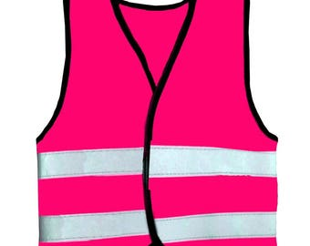 Baby Toddler Hot Pink Vests Reflective Safety Hi Visibility Printable Groups Nursery School Infant 0-6, 6-12, 12-24 months