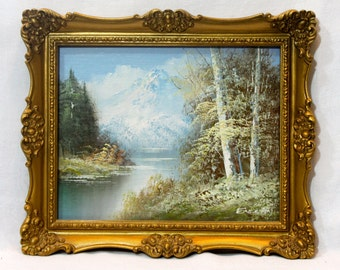 Beautiful Original Oil Painting Lithograph by Samuel G. Enderby