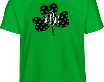 St Patricks Day Shirt Women, Shamrock Monogram, Monogram Shirt, St Pattys Day Shirt, St Patricks Day, Irish Shirt, Shamrock Shirt, Monogram