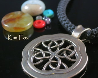 Celtic Window Pendant in Bronze or Silver designed by Kim Fox
