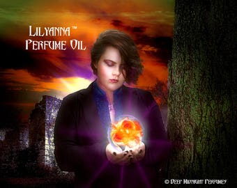 LILYANNA™ Perfume Oil - Ripe Apples, Woods and Leaves, Cardamom, Toasted Marshmallow, faint Woodsmoke - Halloween Perfume - Fall Fragrance