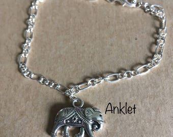 Elephant Anklet Bracelet