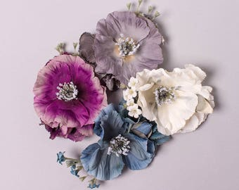 Lilium Poppy, Hydrangea and Gypsophila Corsage