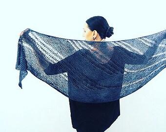 BOLINE Knitting Pattern Shawl
