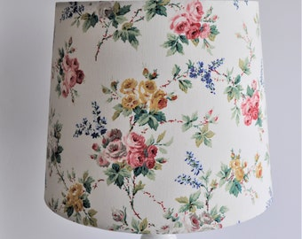 Vintage Floral Empire Lampshade, light, lamp, floral lampshade, vintage lampshade