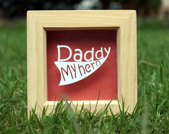 Framed dad papercut, fathers day gift, best dad, papercut for dad, gift for him, birthday gift, desk decoration, mini frame papercut,