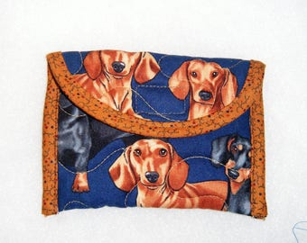 Card Holder - Dachshunds realistic