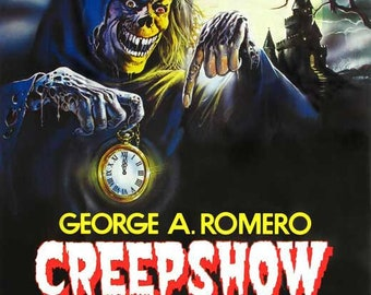 Creepshow (1982) 11 x 17 Italian movie poster George Romero Stephen King horror anthology Hal Holbrook Adrienne Barbeau cult Leslie Nielsen