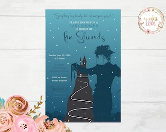 Edward Scissorhands Baby Shower Invitation