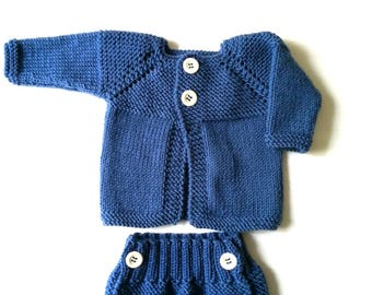 Complete newborn 0/3 months, Bottega Creativitaly, handmade, knitting, newborns, baby kits