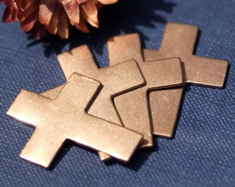 Copper Religious Cross 36mm x 27mm Blanks Cutout for Enameling Stamping Texturing