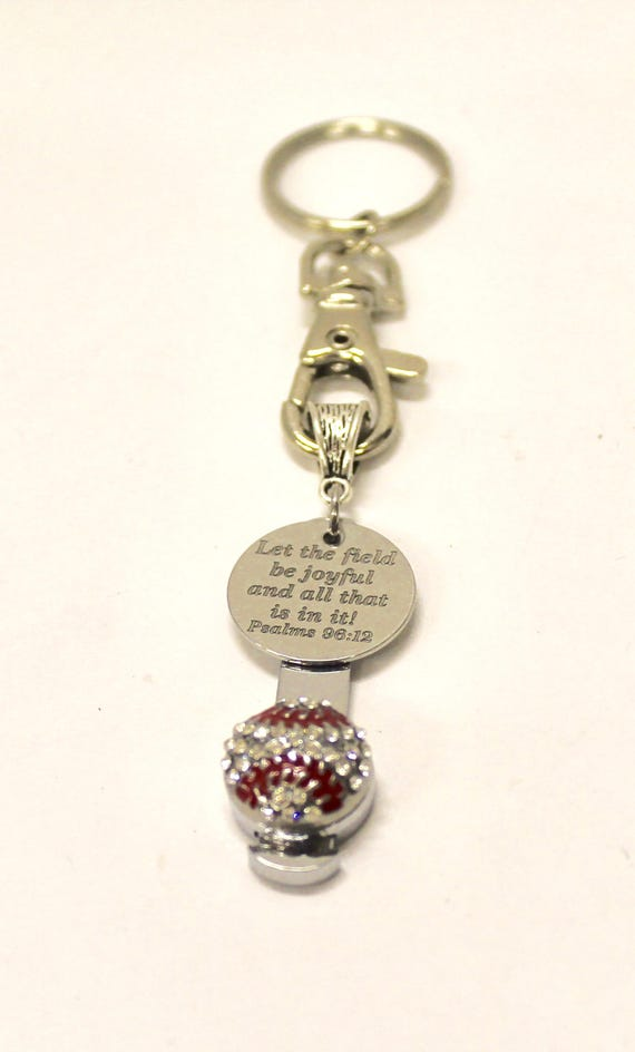 Baseball Bible Verse Keychain, Psalms 29 12 Bible Verse Gift, Baseball Mom Gift, Gift For Her, Gift for Mom, Keyring Gift, Wife Jewelry Gift