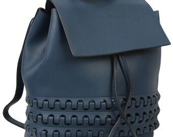 Blue Backpack, Blue Rucksack, Blue Boho Bag